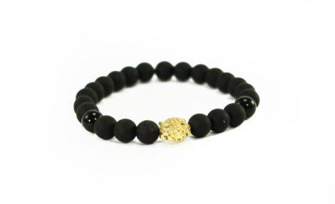 Crystal Dreams Jewelry Lava Stone Jaguar Helmet Charm Bracelet