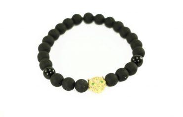 Crystal Dreams Offers Jewelry Lava Stone Jaguar Helmet Charm Bracelets.