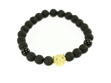 Crystal Dreams Offers Jewelry Lava Stone Jaguar Helmet Charm Bracelets.