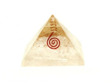 Orgone Pyramid Selenite (L)- Crystal Dreams
