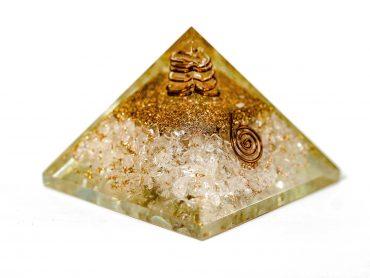 Pyramide d'orgonite - quartz clair
