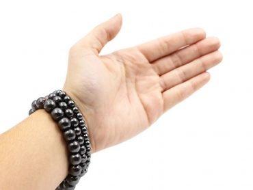 Hematite Bracelet ( 10 mm or 8 mm) - Crystal Dreams