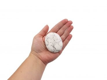 Howlite Palmstone- Crystal Dreams