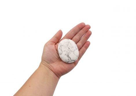 Howlite Palmstone- Crystal Dreams