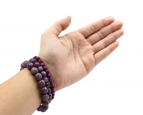 Lepidolite Bracelet ( 10 mm or 8 mm) - Crystal Dreams