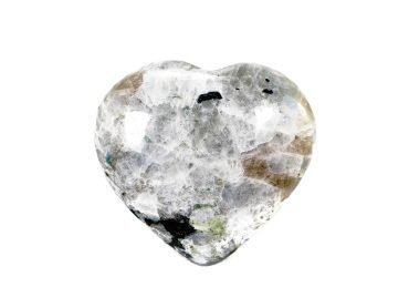 Moonstone Puffy Heart - Crystal Dreams