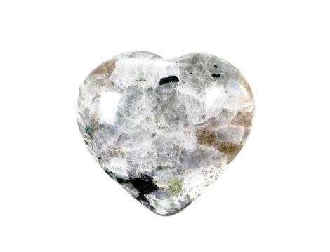 Moonstone Puffy Heart - Crystal Dreams