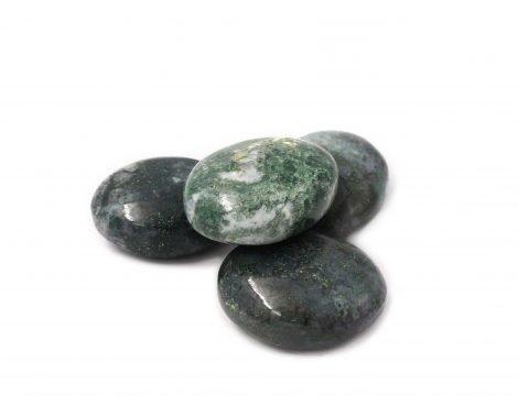 Moss Agate Palmstone - Crystal Dreams