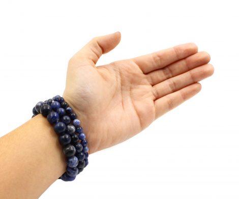 Sodalite - Bracelet (10mm, 8mm, 6mm) (Hand) - Crystal Dreams