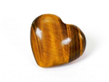 Tiger Eye Puffy Heart - Crystal Dreams