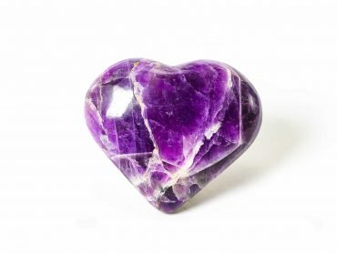 Amethyst Puffy Heart - Crystal Dreams