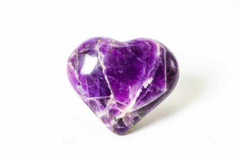 Amethyst Puffy Heart - Crystal Dreams