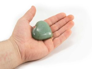 Aventurine Puffy Heart 1