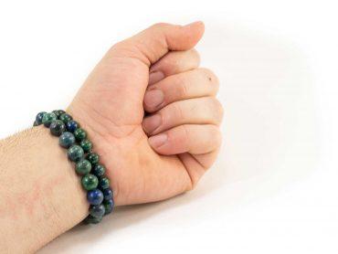 Bracelet d'Azurite (10 mm ou 8 mm)