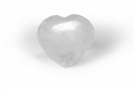 Clear quartz heart gem - Crystal Dreams