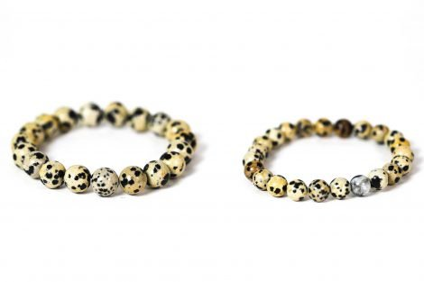Dalmatian Jasper Bracelet ( 10 mm or 8 mm) (Copy) 1
