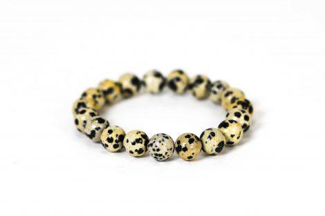 Dalmatian Jasper Bracelet ( 10 mm or 8 mm) (Copy) 2