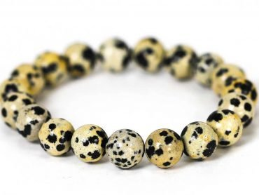 Dalmatian Jasper Bracelet ( 10 mm or 8 mm) Crystal Dreams