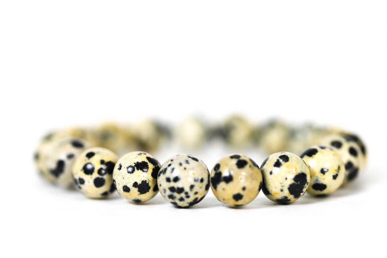 Dalmatian Jasper Bracelet ( 10 mm or 8 mm) (Copy) 3