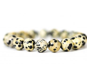 Dalmatian Jasper Bracelet ( 10 mm or 8 mm) (Copy) 3