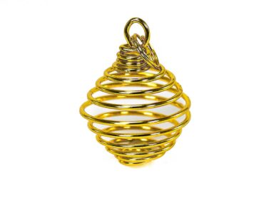 Golden Cage Pendant - Crystal Dreams