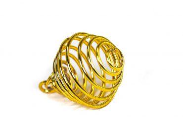Golden Cage -Pendant -Crystal Dreams