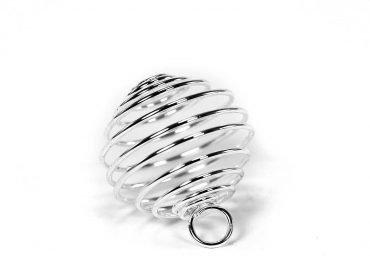 Silver Cage -Pendant -Crystal Dreams