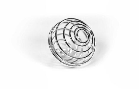 Silver Cage --Pendant -Crystal Dreams