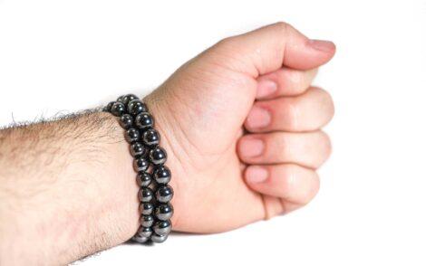 Hematite Bracelet ( 10 mm or 8 mm)