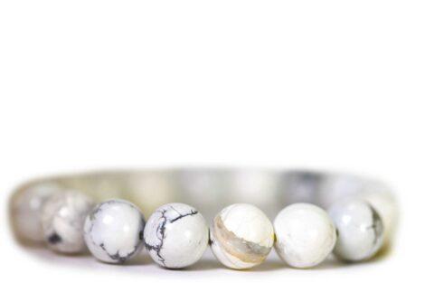 Howlite Bracelet ( 10 mm or 8 mm) 1
