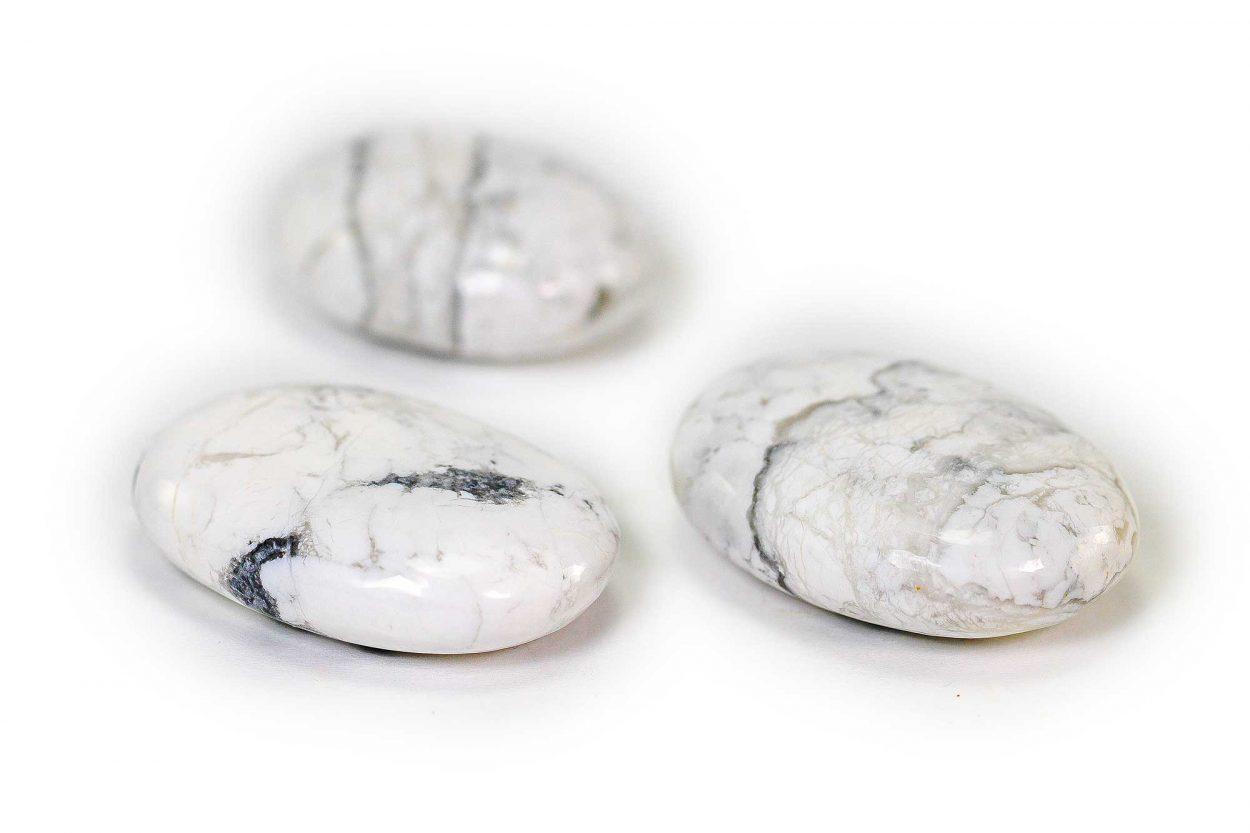 Howlite Palm Stone 1