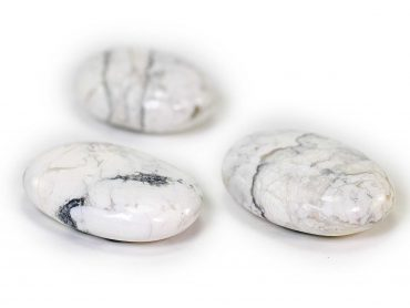 Howlite Palm Stone -Crystal -Crystal Dreams