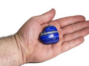 Lapis Lazuli Puffy Heart