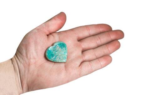 Small Amazonite Heart - Crystal Dreams