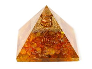 Orgonite Pyramid -  Citrine