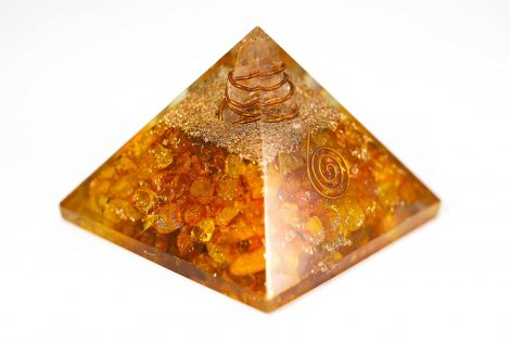 Orgonite Pyramid -  Citrine 3