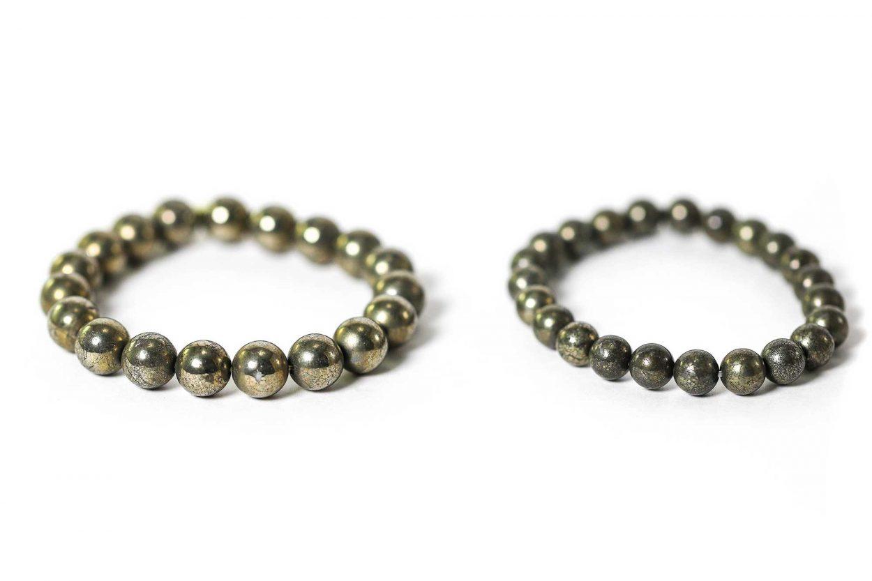 Pyrite Bracelet ( 10 mm or 8 mm)