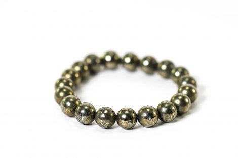 Pyrite Bracelet ( 10 mm or 8 mm) 1