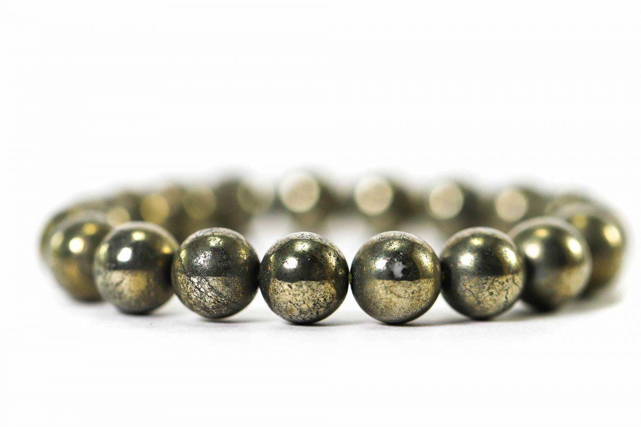 Pyrite Bracelet ( 10 mm or 8 mm) 2