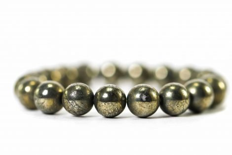 Pyrite Bracelet ( 10 mm or 8 mm) 2
