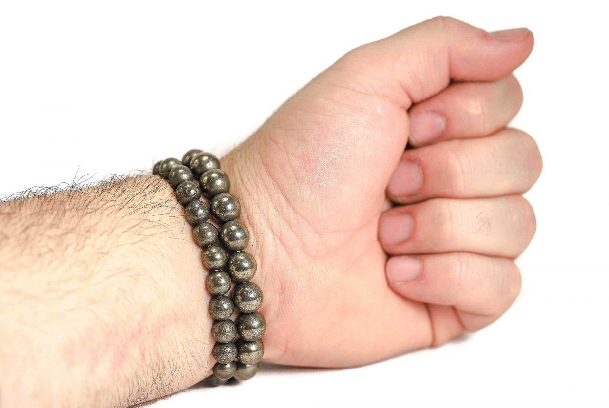 Pyrite Bracelet ( 10 mm or 8 mm) 3