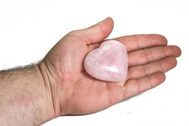 Rose Quartz Puffy Heart 1