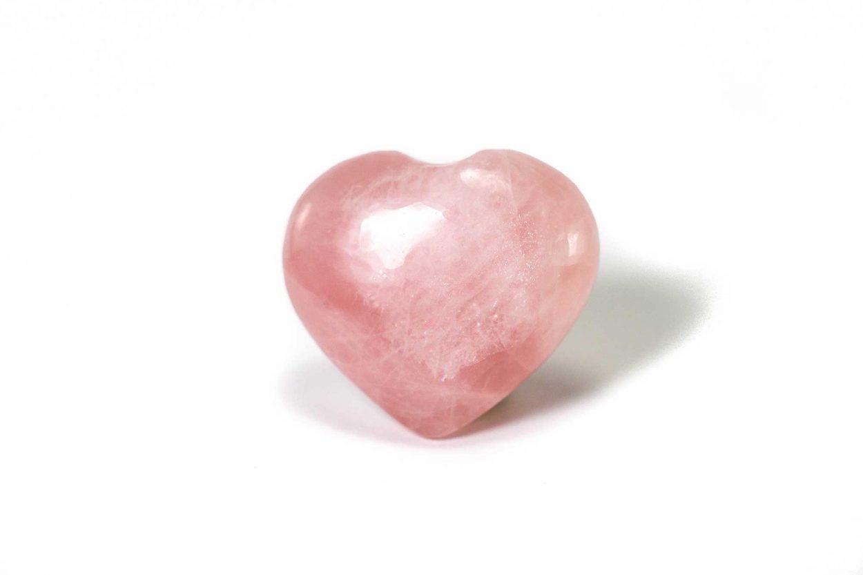 Rose Quartz Puffy Heart 2