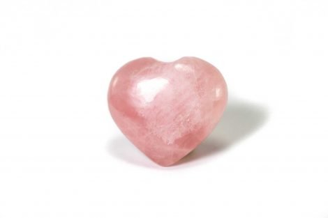 Rose Quartz Puffy Heart 2