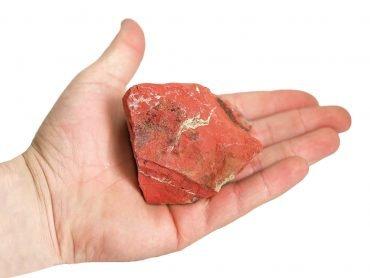 rough red jasper (hand) - Crystal Dreams