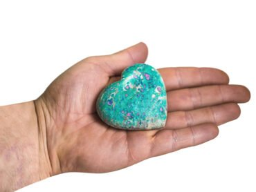 Ruby Fuchsite Puffy Heart - Crystal Dreams