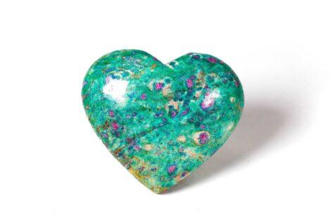Ruby Fuchsite Puffy Heart - Crystal Dreams