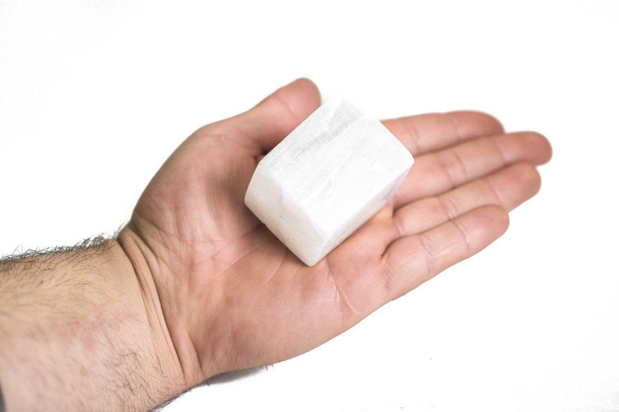 Selenite Cube 3