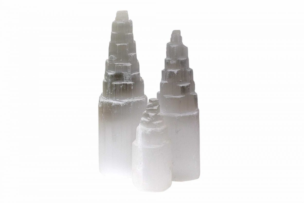 Selenite Tower (10 cm/M ) - 5 cm 2
