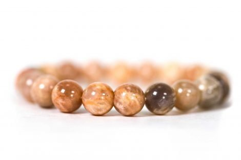 Sunstone Bracelet (10 mm or 8 mm) -Crystals -Crystal Dreams